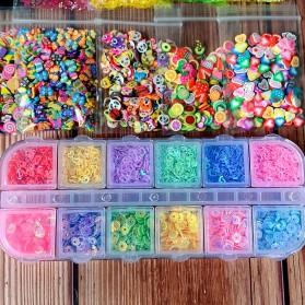 GISIGN Paket DIY Slime Kit Crystal Mud Mainan Kreativitas Anak - CN01 - Multi-Color - 7
