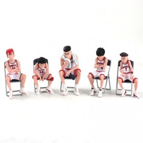 Apaffa Set Action Figure Slam Dunk Shohoku Team 5 PCS - AP5 - White