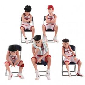 Apaffa Set Action Figure Slam Dunk Shohoku Team 5 PCS - AP5 - White - 10