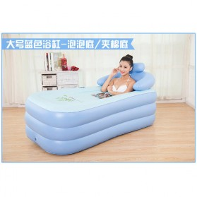Intime Bak Mandi Angin Inflatable Bathtub Portable 160 x 84 x 75 cm with Pompa - WL-XX4 - Blue - 2