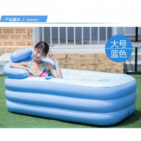 Intime Bak Mandi Angin Inflatable Bathtub Portable 160 x 84 x 75 cm with Pompa - WL-XX4 - Blue - 3