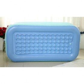Intime Bak Mandi Angin Inflatable Bathtub Portable 160 x 84 x 75 cm with Pompa - WL-XX4 - Blue - 5