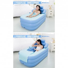 Intime Bak Mandi Angin Inflatable Bathtub Portable 160 x 84 x 75 cm with Pompa - WL-XX4 - Blue - 6