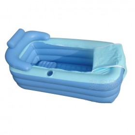 Intime Bak Mandi Angin Inflatable Bathtub Portable 160 x 84 x 75 cm with Pompa - WL-XX4 - Blue - 8