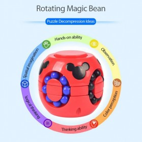 Cube Spinner Mainan Puzzle Rotating Magic Bean Anak - UCN1 - Multi-Color - 7