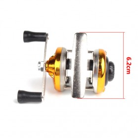PULLINE AC100 Series Mini Reel Pancing Fishing Reel 3.0:1 Gear Ratio 50M - Red - 5