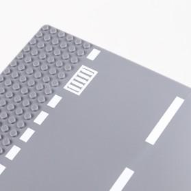 KACUU Base Plate LEGO Building Blocks 25.6 x 25.6 cm Straight Road - KA-EN-213 - Gray - 8