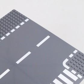KACUU Base Plate LEGO Building Blocks 25.6 x 25.6 cm T Road - KA-EN-213 - Gray - 8