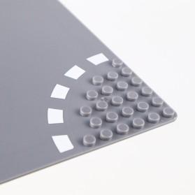 KACUU Base Plate LEGO Building Blocks 25.6 x 25.6 cm Bend Road - KA-EN-213 - Gray - 3
