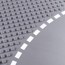 KACUU Base Plate LEGO Building Blocks 25.6 x 25.6 cm Bend Road - KA-EN-213 - Gray - 4