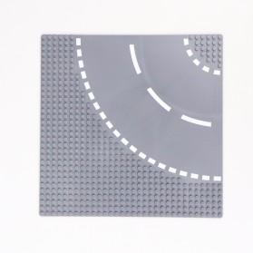 KACUU Base Plate LEGO Building Blocks 25.6 x 25.6 cm Bend Road - KA-EN-213 - Gray - 5
