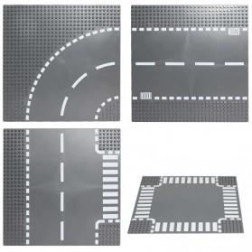 KACUU Base Plate LEGO Building Blocks 25.6 x 25.6 cm Bend Road - KA-EN-213 - Gray - 7