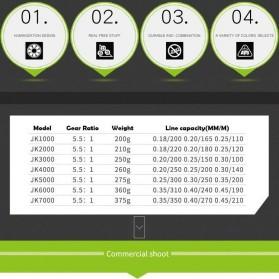 DAICY JK5000 Reel Pancing Spinning Interchangeable Handle 5.5:1 - JG012 - Black - 7