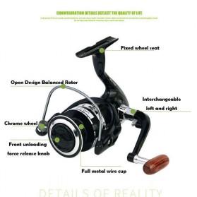DAICY JK5000 Reel Pancing Spinning Interchangeable Handle 5.5:1 - JG012 - Black - 8