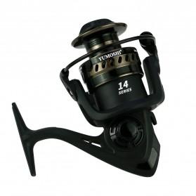 Yumoshi LT5000 Series Reel Pancing Fishing Reel 5.2:1 Gear Ratio - Silver Black - 3