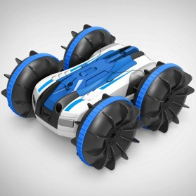 Hapybas Mobil RC Remote Control Stunt Car Water Land Amphibious Small Version - WDS-RCT017 - Blue