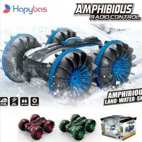 Hapybas Mobil RC Remote Control Stunt Car Water Land Amphibious Big Version - WDS-RCT017 - Blue
