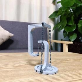 OLOEY Mainan Puzzle Anak Tensegrity Sculptures Anti Gravity Building Blocks - O31 - Silver - 5