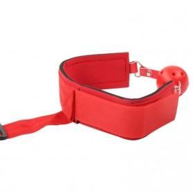 Yunman Tali Pengikat Kaki Tangan Reverse Handcuff Wrist Neck Mouth Gag BDSM Bondage - 00632 - Black - 3