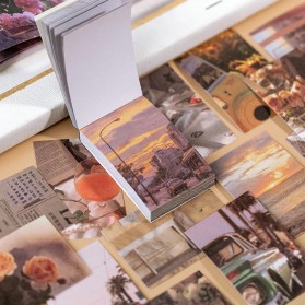 PINKINAHY Stiker Kertas Buku Vintage Journal Stickers Decorative Scraping 50pcs - GS74 - Brown - 2