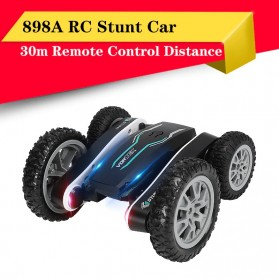 Vortex Remote Control Stunt Car Colorful LED Light 360 Degree Flip 4WD 2.4G - 898A - Black