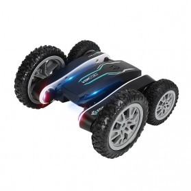 Vortex Remote Control Stunt Car Colorful LED Light 360 Degree Flip 4WD 2.4G - 898A - Black - 4