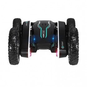 Vortex Remote Control Stunt Car Colorful LED Light 360 Degree Flip 4WD 2.4G - 898A - Black - 5