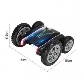 Vortex Remote Control Stunt Car Colorful LED Light 360 Degree Flip 4WD 2.4G - 898A - Black - 7