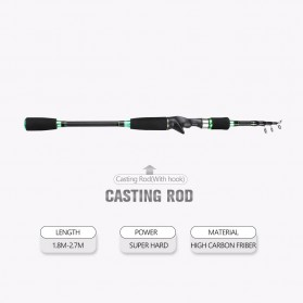 SHENYUE Joran Pancing Portable Telescopic Casting Rod 3M - JW-03 - Green
