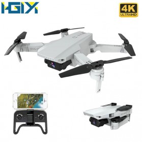 HGIYI Quadcopter Foldable Drone 4K Camera WiFi FPV - KF609 - Silver