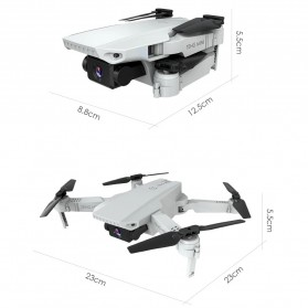 HGIYI Quadcopter Foldable Drone 4K Camera WiFi FPV - KF609 - Silver - 2