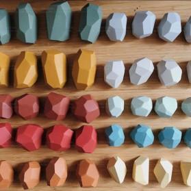 Brozebra Mainan Edukasi Anak Batu Susun Jenga Building Block Balance Toy 16PCS - BZ1020 - Multi-Color - 3