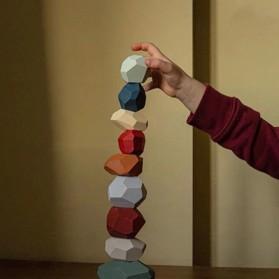 Brozebra Mainan Edukasi Anak Batu Susun Jenga Building Block Balance Toy 16PCS - BZ1020 - Multi-Color - 4