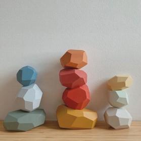 Brozebra Mainan Edukasi Anak Batu Susun Jenga Building Block Balance Toy 16PCS - BZ1020 - Multi-Color - 6