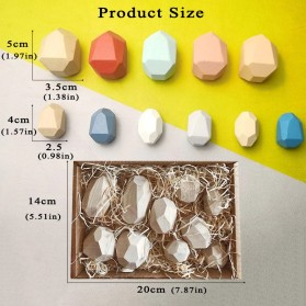 Brozebra Mainan Edukasi Anak Batu Susun Jenga Building Block Balance Toy 16PCS - BZ1030 - Multi-Color - 7
