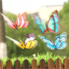 Dekorasi Kebun Kupu-Kupu Artificial Flying Butterfly 15 PCS - Multi-Color