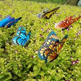 Dekorasi Kebun Kupu-Kupu Artificial Flying Butterfly 15 PCS - Multi-Color - 2