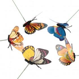 Dekorasi Kebun Kupu-Kupu Artificial Flying Butterfly 15 PCS - Multi-Color - 5