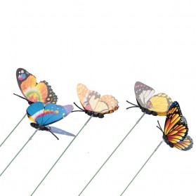 Dekorasi Kebun Kupu-Kupu Artificial Flying Butterfly 15 PCS - Multi-Color - 6