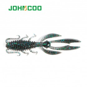 JOHNCOO Umpan Pancing Udang Kecil Shrimp Soft Bait Lure 65 mm 10 PCS - JO10 - Green