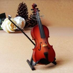 Xi Luan Xiang Miniatur Pajangan Biola Violin Instrument Decoration 10cm - XL4175 - Wooden