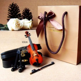 Xi Luan Xiang Miniatur Pajangan Biola Violin Instrument Decoration 10cm - XL4175 - Wooden - 2