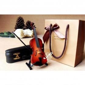 Xi Luan Xiang Miniatur Pajangan Biola Violin Instrument Decoration 10cm - XL4175 - Wooden - 3