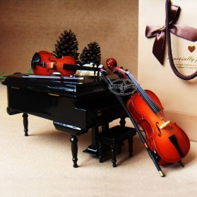 Xi Luan Xiang Miniatur Pajangan Biola Violin Instrument Decoration 10cm - XL4175 - Wooden - 4