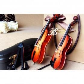 Xi Luan Xiang Miniatur Pajangan Biola Violin Instrument Decoration 10cm - XL4175 - Wooden - 5