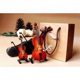 Xi Luan Xiang Miniatur Pajangan Biola Violin Instrument Decoration 10cm - XL4175 - Wooden - 6