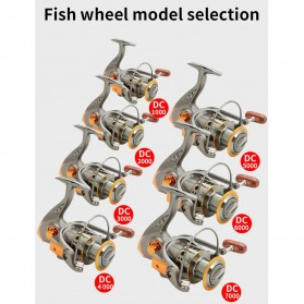 DiaoDeLai Reel Pancing Fishing Reel Kumparan Pancing 13 Ball Bearing 5.2:1 - DC5000 - Gray - 6