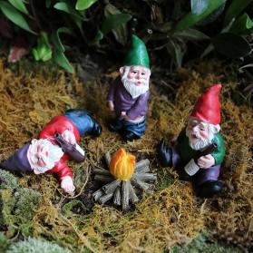 SupB Dekorasi Kebun Garden Decoration Drunken Dwarfs Gnome 4 PCS - S181 - Mix Color