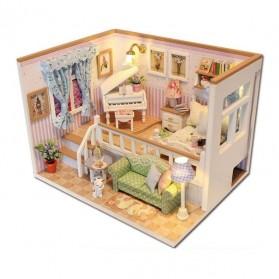 Sylvanian Cute Room Miniatur Rumah Boneka 3D DIY 1:24 with Cover - M026 - Pink
