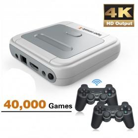 Mainan Dalam Ruangan - BOYHOM Super Console X Video Game Retro Controller Stick 128GB 41000 Games - TGZ-706W - White